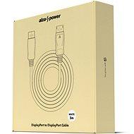 AlzaPower DisplayPort (M) auf DisplayPort (M) 3m - weiss - Videokabel