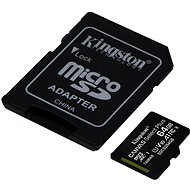Kingston Canvas Select Plus micro SDXC 64GB Class 10 UHS-I + SD Adapter - Speicherkarte