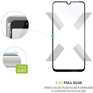 FIXED FullGlue-Cover für Motorola Moto G8 Schwarz - Schutzglas