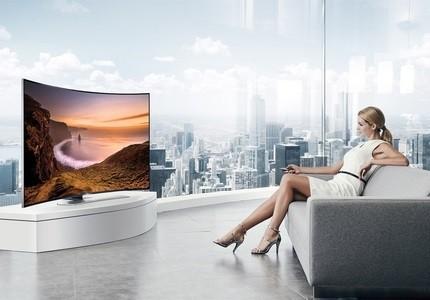 Samsung Smart TV gebogen