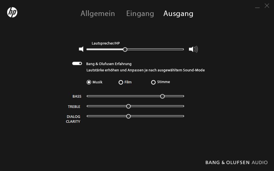 HP Envy 15 – HP Audio Switch