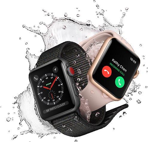 Apple Watch Series 3 42mm GPS Space Grey Aluminium Mit Sportarmband