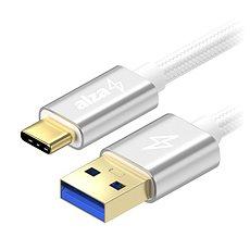 AlzaPower AluCore USB-C 3.1 Gen1, 1 m Silver - Datenkabel