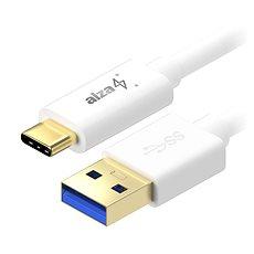 AlzaPower Core USB-C 3.1 Gen1, 0,5 m White - Datenkabel
