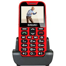 EVOLVEO EasyPhone XD rot-silber - Handy