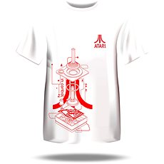 Atari T-Shirt – Iconic Joystick Blueprint - T-Shirt