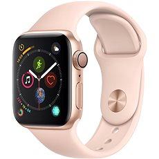 Apple Watch Series 4 40mm Gold Aluminium mit einem sandfarbenen Sportarmband - Smartwatch
