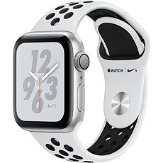 Apple Watch Series 4 Nike + 40mm Silber Aluminium mit Platin / Schwarz Sport Strap Nike - Smartwatch