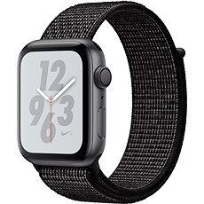 Apple Watch Series 4 Nike + 44mm Space schwarz schwarz mit Nike Sportlederarmband - Smartwatch