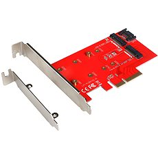 I-TEC PCI-E 2x M.2 Card (PCI-E/SATA) - Steckkarte