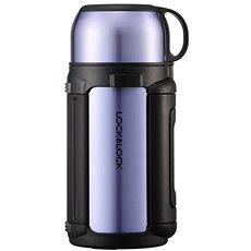 Lock & Lock Thermosack mit 1,2l Saphir-GoldBecher - Thermosflasche
