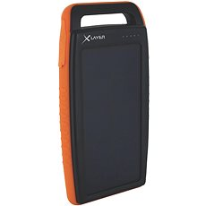 XLAYER Powerbank PLUS Outdoor Solar 15000mAh schwarz / orange - Powerbank