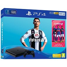 PlayStation 4 - 500 GB Slim + FIFA 19 - Spielkonsole