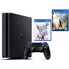 PlayStation 4 Slim 500 GB + Assassins Creed Odyssey + Just Dance 2019 - Spielkonsole