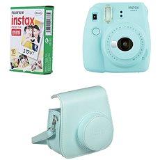 Fujifilm Instax Mini 9 hellblau + 10 x Fotopapier + Hülle - Sofortbildkamera