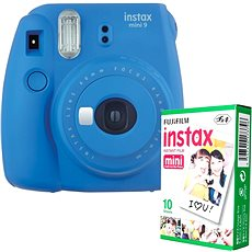 Fujifilm Instax Mini 9 dunkelblau + 10x Fotopapier - Sofortbildkamera