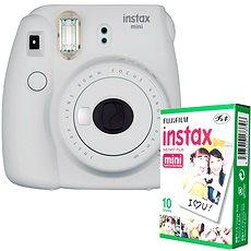 Fujifilm Instax Mini 9 weiß + 10 x Fotopapier - Sofortbildkamera