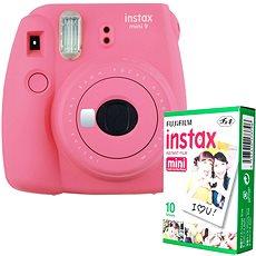 Fujifilm Instax Mini 9 pink + 10x Fotopapier - Sofortbildkamera