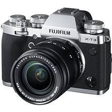 Fujifilm X-T3 silber + XF 18-55 mm R LM OIS - Digitalkamera