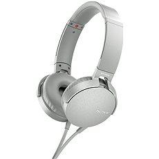 Sony MDR-XB550AP Weiß - Kopfhörer mit Mikrofon