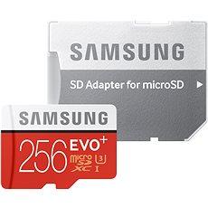 Samsung MicroSDXC 256GB EVO Plus Class 10 UHS-I + SD-Adapter - Speicherkarte