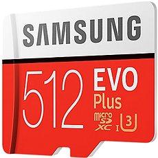 Samsung MicroSDXC 512 GB EVO Plus UHS-I U3 + SD-Adapter - Speicherkarte