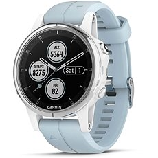 Garmin Fenix 5S Plus White Optic Seafoam Band - Smartwatch