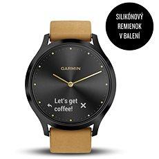 Garmin vivomove HR Premium Onyx Black Tan Suede - Smartwatch