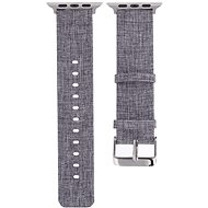 Eternico Apple Watch 38mm Canvas Band Grey - Uhrband