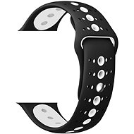 Eternico Apple Watch 42mm Silicone Polkadot Band Black White - Uhrband