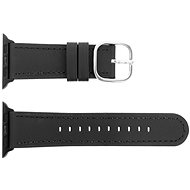 Eternico Apple Watch 42mm / 44 mm Leather Classic Black - Uhrband