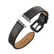 Eternico Apple Watch 42mm Leather Band Black - Uhrband
