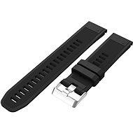 Eternico Garmin Quick Release 22 Silikonarmband Silikon Silberfarbene Schnalle schwarz - Armband