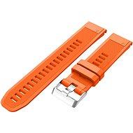Eternico Garmin Quick Release 22 Silikonarmband Silikon Silberfarbene Schnalle orange - Armband
