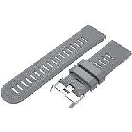 Eternico Garmin Quick Release 26 Silikonband Silikon Silberfarbene Schnalle grau - Armband