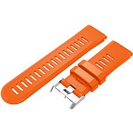 Eternico Garmin Quick Release 26 Silikonarmband Silikon Silberfarben Schnalle orange - Armband