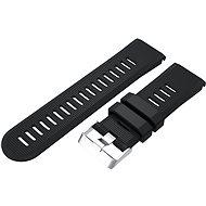 Eternico Garmin Quick Release 26 Silikonarmband Silikon Silberfarbene Schnalle schwarz - Armband