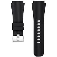 Eternico Quick Release 22 Silicone Vertical Grain Silver Buckle schwarz für Samsung Galaxy Watch - Armband