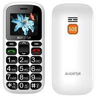 Aligator A321 Senior White + Tisch-Ladegerät - Handy