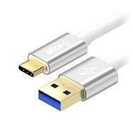 AlzaPower AluCore USB-C 3.1 Gen1, 2 m Silver - Datenkabel