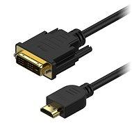 AlzaPower DVI-D-zu-HDMI-Einzelverbindungsverbindung 1m - Videokabel