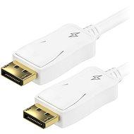 AlzaPower DisplayPort (M) auf DisplayPort (M), abgeschirmt, 2 m - weiß - Videokabel
