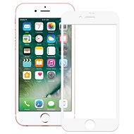 Screenshield APPLE iPhone 8 Tempered Glass Protection (full COVER white) auf das Display - Schutzglas