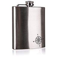 BANQUET AKCENT North Edelstahl-Flachmann 12,2 x 9,2 x 2,2 cm - Thermosflasche
