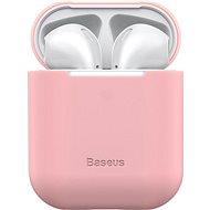 Baseus Super Thin Silica Gel Case für AirPods 1/2 gen Pink - Hülle