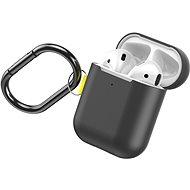 Baseus Woven Label Hook Protective Case für AirPods 1/2 Gen Grau/Gelb - Kopfhörerhülle