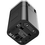 Baseus Abnehmbarer 2-in-1-Universal-Reiseadapter PPS Quick Charger Edition Schwarz - Reiseadapter