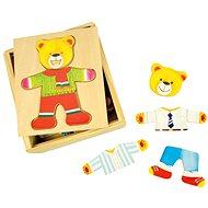 Bigjigs Ankleidepuzzle aus Holz - Mr. Bear - Puzzle
