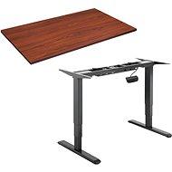 AlzaErgo Tisch ET1 NewGen schwarz + Tischplatte TTE-01 140x80cm braun furniert - Höhenverstellbarer Tisch