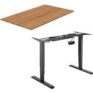 AlzaErgo Tisch ET1 NewGen schwarz + Tischplatte TTE-03 160x80cm Bambus - Tisch